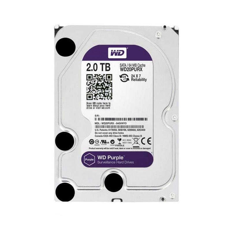 هارد دیسک اینترنال وسترن دیجیتال 2 ترابایت بنفش WD20PURX