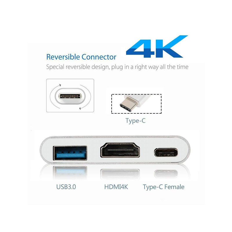 تبدیل کننده USB-C به HDMI/USB3/USBC