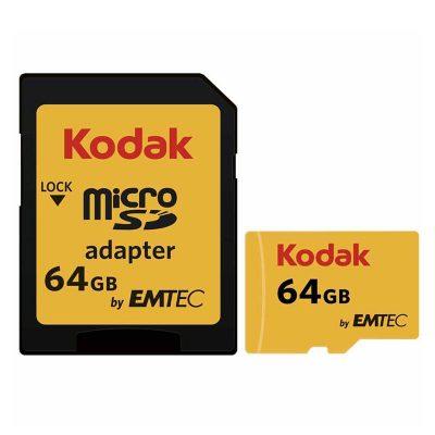 کارت حافظه microSDXC امتک کداک به همراه آداپتور SD ظرفیت 64 گیگابایت