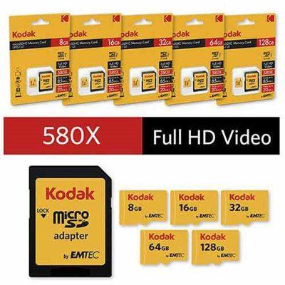 کارت حافظه microSDHC امتک کداک ظرفیت 16 گیگابایت