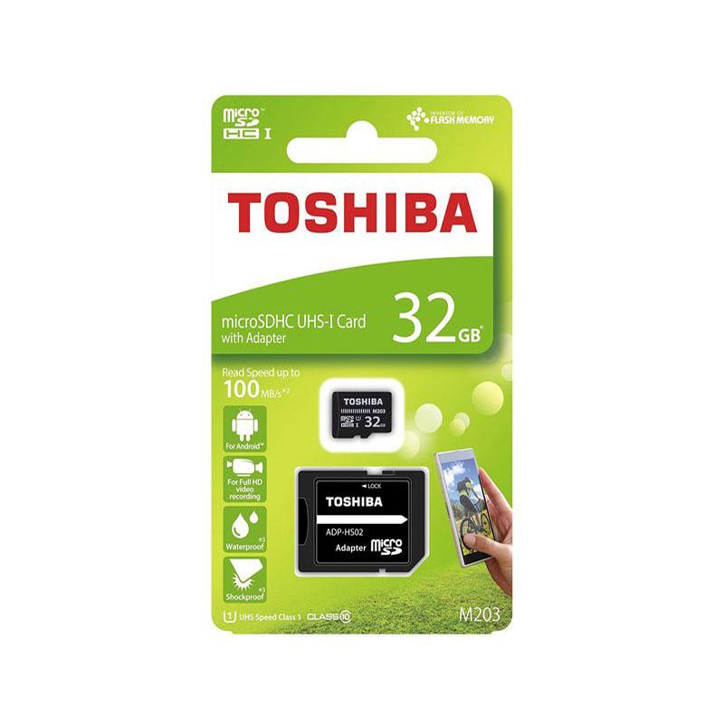 کارت حافظه microSDHC توشیبا M203 ظرفیت 32 گیگابایت