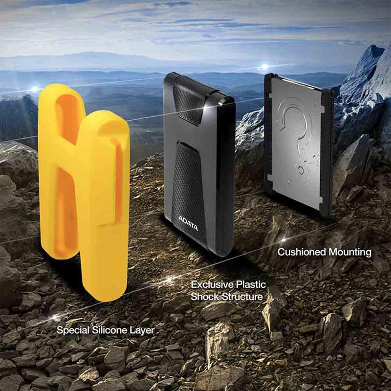 هارددیسک اکسترنال ای دیتا مدل DashDrive Durable HD680 ظرفیت 1 ترابایت