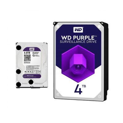 هارد دیسک اینترنال وسترن دیجیتال 4 ترابایت بنفش WD40PURZ
